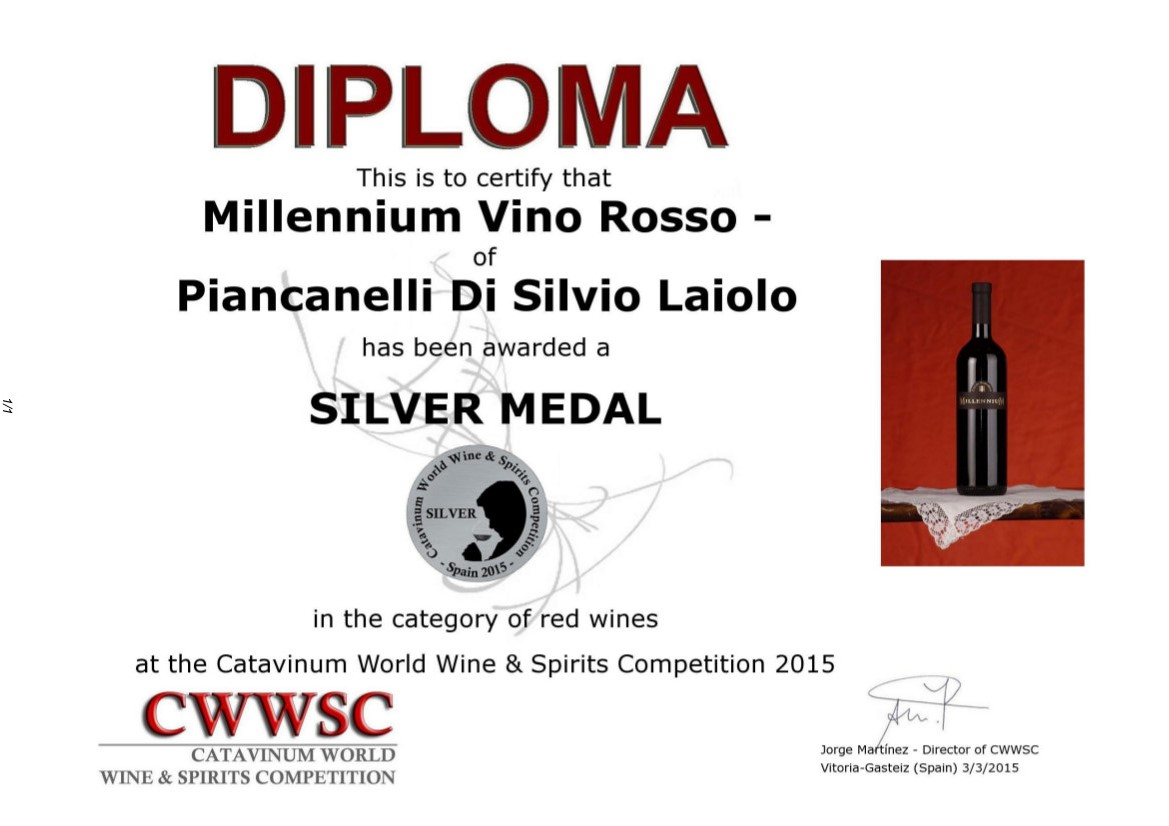 Catavinum-2015-wine-spirits-competition-Spain-Cascina-Piancanelli-Millennium-red-wine_diploma_silver_medal