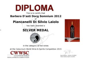 Catavinum-2015-wine-spirits-competition-Spain-Cascina-Piancanelli-Somnium-Barbera-d-Asti-DOCG_red_wine_diploma_silver_medal